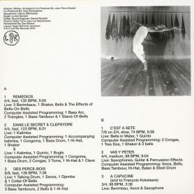 Percussions Pour La Danse LP